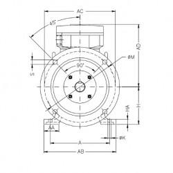 Moteur électrique WEG ATEX 1,1KW 4P 230/400V B35