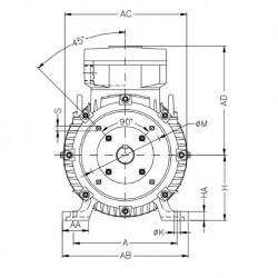 Moteur électrique WEG ATEX 1,1KW 4P 230/400V B34